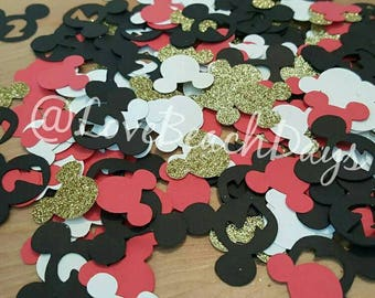 2nd Birthday Minnie or Mickey Mouse Confetti: Second Birthday  Disney Confetti 200 Pieces