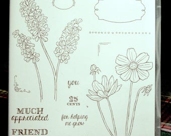 NEW!! Stampin' Up! Helping Me Grow retired photopolymer stamp set (15)
