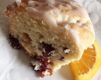 Cranberry Orange Bread with Grand Marnier Glaze