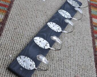 5 Funky Table Spoon Hooks Coat Rack Recycled Silverware