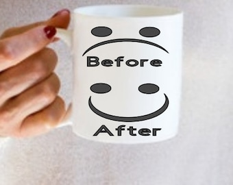 Before After Coffee Mug Decal (Decal Onl)