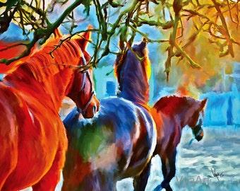 Horse wall art, Horse Painting, Horse Art, Horse, Horse Print, horse decor, horse gift, horse art print, equine art, gift for horse lover