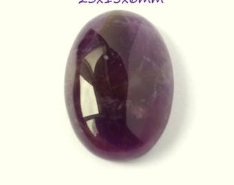AMETHYST cabochon 23x15x6mm shape oval natural stone 7014921