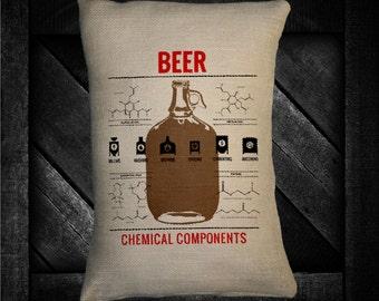 "Beer Compound 12""x16"" Pillow Set"