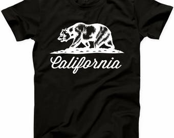California Bear T Shirt Cali Life Best Home State Republic Grizzly Hollywood Tee