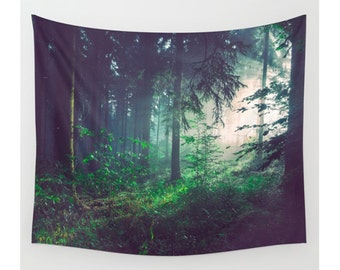 Wall Tapestry, Tree Tapestry, Wall Hanging, Wilderness Trees Forest Woods, Nature Wall Art, Large Photo Wall Art, Modern Tapestry,Home Decor