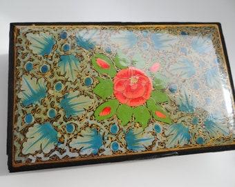 Box flower paper-mache