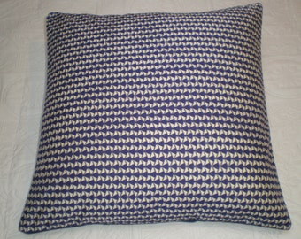 Liberty of London Fabric Cushion Cover - Jonathan - Navy and Cream