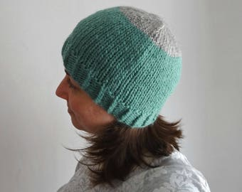 LUPITA basic simple hat, knitted in alpaca wool / winter beanie accesory
