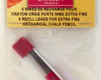 NIPkg BOHIN Grey Refill Chalks for extra fine mechanical pencil 0.9mm x 25mm