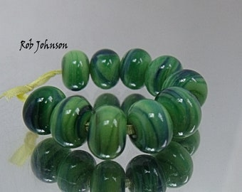 Spring Crops, Artisan Lampwork Glass Beads, SRA, UK