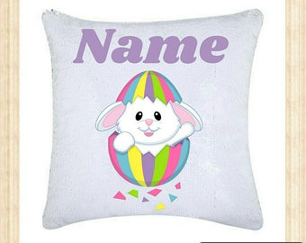 Personalized Easter Reversible Sequin Cushions