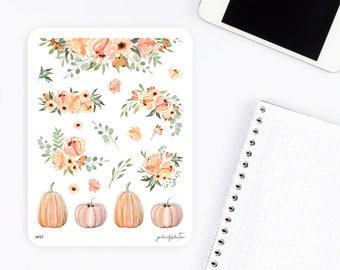 W57 | Flower Stickers | Fall Stickers | Decorative Stickers | Watercolor Stickers | Planner Stickers | Bullet Journal Stickers