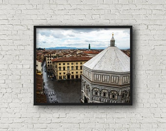 Florence Street Print / Digital Download / Fine Art Print/ Wall Art / Home Decor / Color Photograph / Florence Italy / Travel Photography