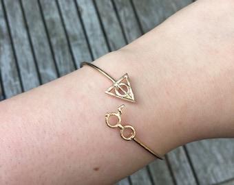 Harry Potter Bracelet, Harry Potter Gifts, Deathly Hallows Bracelet, Gifts,