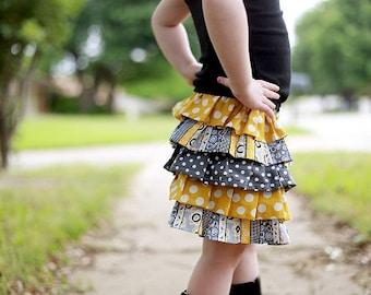 Ruffle Skirt Pattern, Girl's Skirt Pattern, Anna Ruffled Skirt, 12 months to 12 years
