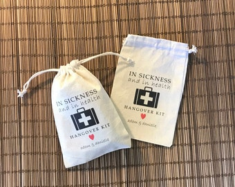 In Sickness and in Health... Set of 8 Hangover Kit Bags