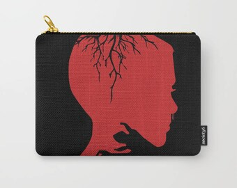 Stranger Things, Stranger Things Carry All Pouch, Makeup Bag, Pencil Pouch, Eleven, Eleven from Stranger Things, Demogorgon