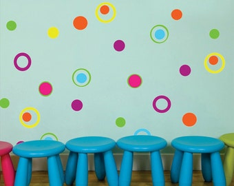 Circles & Rings Wall Decals