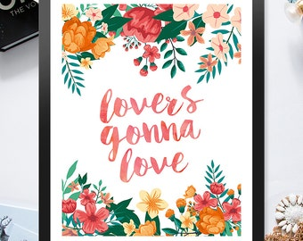 Lovers Gonna Love Pastel Flowers 8x10 inch Poster Print - P1027