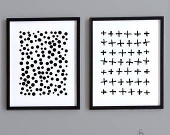 2 Piece Geometric Nursery Wall Art - Instant Download - Printable Art - Gender Neutral - Nursery Decor - Printable Nursery Art - DIY Print