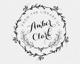 Book Stamp, From the Library Of Stamp, Personalized Book Stamp, Personalized Library Stamp, Library Stamps (T212)