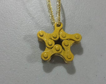 Bronze Bicycle Chain Star Ornamemt - Christmas Ornament, Bicycle Gift, Gear Ornament Up-cycled