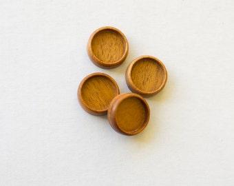 No laser fine craftsmanship hardwood bezels - Mahogany - 18 mm - (Z18c-M) - Set of 4