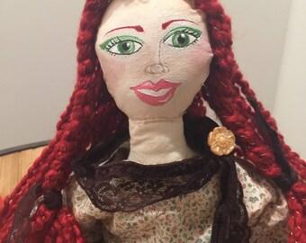 OOAK Art Cloth Doll - Doll- # 2