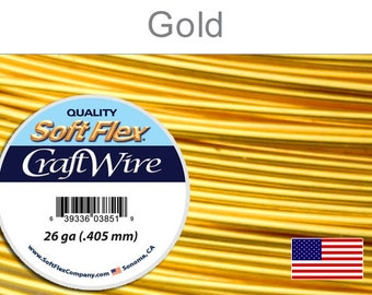 26 Gauge Gold Silver Plated Wire, Soft Flex, Round, Non-Tarnish, Supplies, Findings, Craft Wire