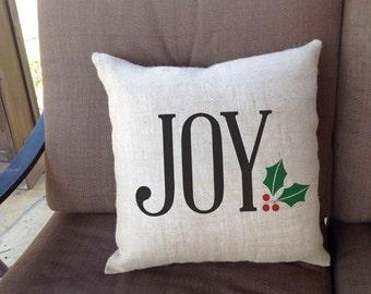 """Joy Linen Throw Pillow 16""""x16""""  - AH"""