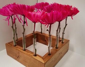 Test Tube Flower Center Piece Vase