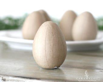 "4"" Kraft Paper Mache Eggs unfinished hollow egg"