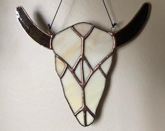 Staines glasa cow skull • boho • desert • western