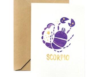 Birthday Greeting Card | Scorpio Horoscope