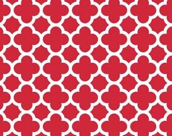 Red Quatrefoil fabric by Riley Blake, C435-80