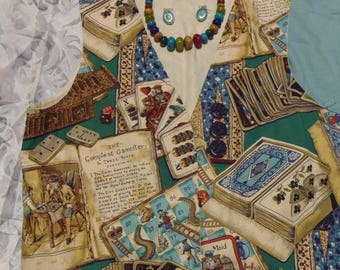 Handmade Vintage Games Vest Sz 10/12