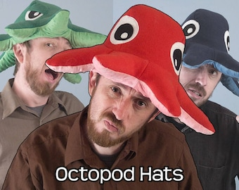 Fleece Octopod Hat - Various Colors