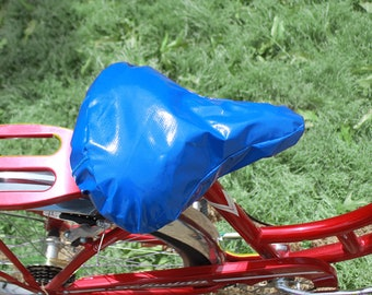 Bicycle Seat Cover- Saddle Cover- Waterproof Oilcloth-Blue Seat cover  for Cruiser Bikes