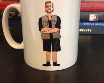 Big Lebowski 'Walter Sobchak' drawing illustrated mug