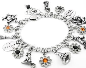 Girls Pumpkin Jewelry, Girls Halloween Bracelet, Kids Bracelet, Children's Ghost Jewelry, Childrens Halloween Bracelet