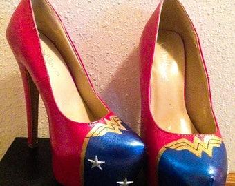 Wonder Woman high heels