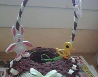 Easter basket decoration quilling
