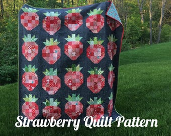 Strawberry quilt pattern