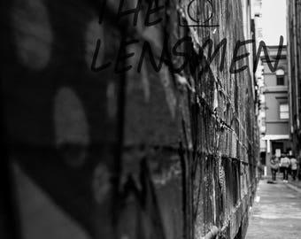Black and White photograph, Melbourne, Graffiti, Urban photograph, Melbourne laneway