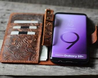 Handmade Samsung Galaxy  s9 plus / s9+ /s9  S8+ Leather Wallet Case   S8 /  S8 PLUS case  S7 leather case  leather s7 edge case