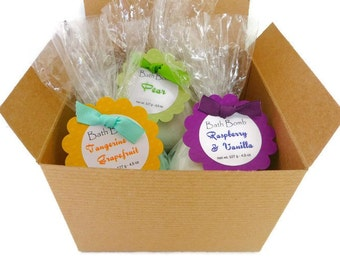 Bath Bomb Gift Set, Gift for her, Birthday gift idea, Sister gifts, Gifts for Women, tween gifts, bath fizzies, Gifts young girls, boy gift