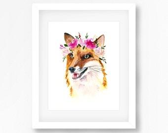 The Happiest Fox Print