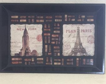 Mosaic Tray Paris New York