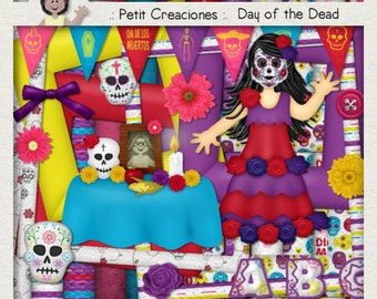 "KIT SCRAPBOOKING DIGITAL ""Day of the Dead"""